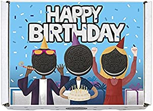 Oreo Gift Boxes - Includes Regular Oreo, Double Stuf and Mini Oreo Cookies (Happy Birthday)