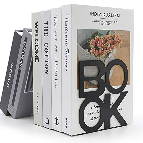 ブックエンド ? 装飾メタルブックエンドサポートブックラックデスク、すべてのサイズの本、ユニークな外観デザイン、高耐久