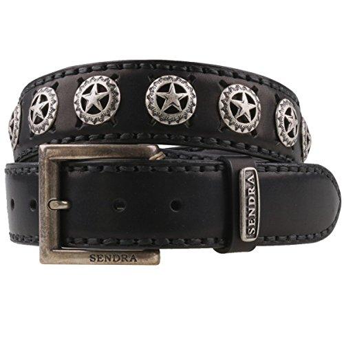 Sendra 8519 ceinture en cuir noir, Noir, 100