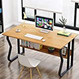 Escritorio de madera para computadora de escritorio de oficina, estudio, computadora portátil, mesa multiusos para casa, oficina, reuniones, juegos, mesa de estudio B 140 x 70 cm - 80 x 45 cm