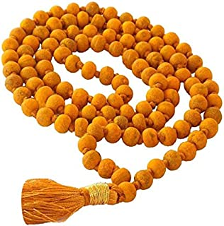 100% Original Rosary Turmeric 108 Beads/Turmeric Rosary Strands Tantra puja/Haldi Japa Mala Bagalamukhi Puja - Vrindavan (1)
