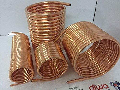 Spirale aus Kupferrohr 18x1mm weich aus 15m mit Außendurchmesser ca. 31cm Poolheizung Spirale 60 Liter Fass