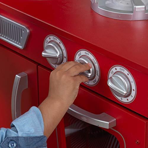KidKraft 53173 Vintage-Spielküche aus Holz, Rot - 9