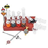 Antetek Silicone Car-b Cap/Bowl Storage Box, Glass Connecting Adapter, Wax Carving Tool Storage Box, Adapter Placer(8.5inch)