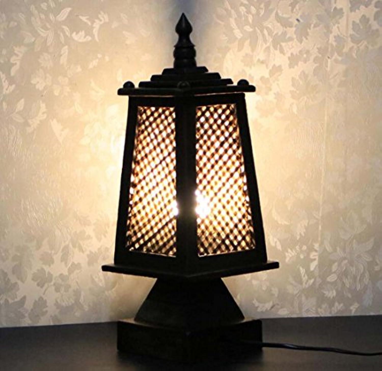 Retro-Schreibtischlampe, Bambus-Taste Schreibtischlampe, Nachttischlampe Studie lesen Tischlampe Nachtlicht G4 enthlt keine Glühbirne