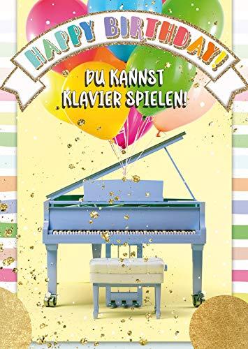 bentino Kinder-Geburtstagskarte mit Piano-Funktion! Die Tasten berühren und
