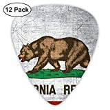 Púas de guitarra de colores de la bandera de California para guitarra acústica, guitarra eléctrica, bajo, ukelele