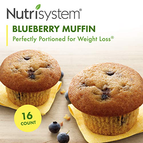 Nutrisystem Blueberry Muffins, 16 ct, Breakfast Muffins for Weight Loss