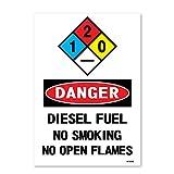 Danger: Diesel Fuel No Smoking No Open...