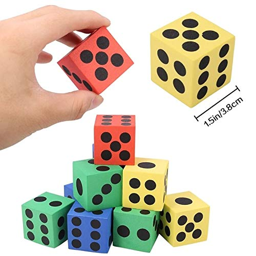Gather together 12pc Foam Dot Dice Portable Table Games Dice Creative Combination of Eva Foam Dice Children's Early Education Educational Toys