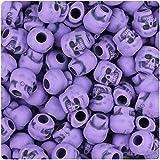 BeadTin Dark Lilac Antique 11mm Skull Pony Beads (150pcs)