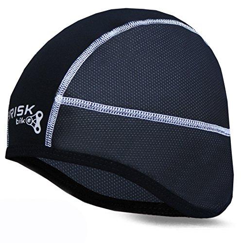 Brisk Calotte de vélo sous Ajustement serré Taille Normale Chaude Thermique Casque (Black, Regular)