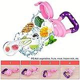 Baby Fruit Bite Bag Alimentador de fruta para bebés Chupete Nutrición para bebés Masticación de frutas y verduras Fruta Mordida de comida/Rosa/M 29 mm