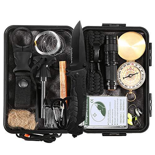Kit de Supervivencia Emergencia Multi Herramientas - Suministros Esenciales de Primeros Auxilios