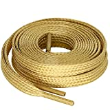 MiracleCat Flat Golden/Silver Color Silk Shoelaces for Sport Shoes and Sneakers (1200.8CM, Golden)