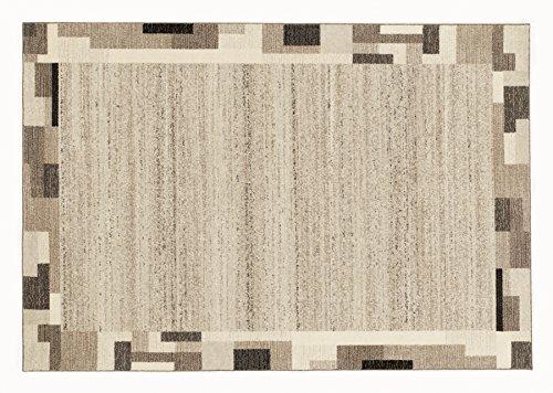 ORGANICAL PAN moderner Woll Teppich Wollsiegel in natur, Größe: 160x230 cm