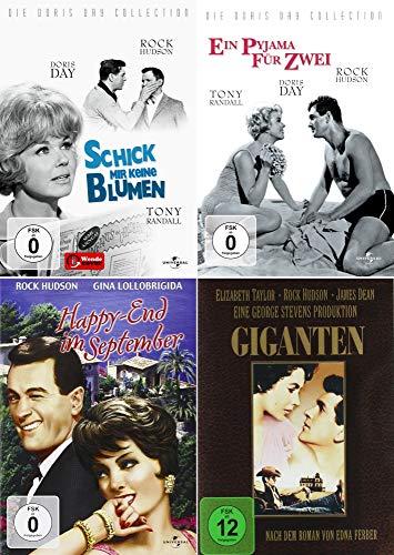 Rock Hudson Collection - Giganten + Schick mir keine Blumen + Ein Pyjama für zwei + Happy-End im September [4er DVD-Set]