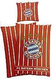 FC Bayern München Bettwäsche 'Stars and Stripes' Wendemotiv Bezug 135x200cm Kissen 80x80cm 100%Baumwolle