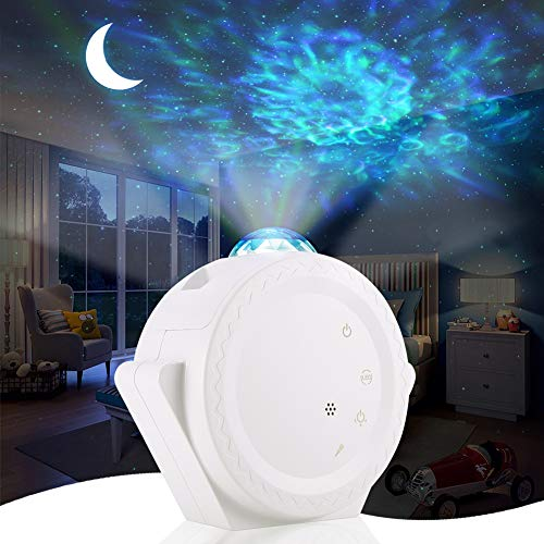 ALOVECO Star Projector, LED Night Light Projector with Moon Star Nebula Cloud Touch&Voice Control LED Projector Lights Sky Projection Lamp for Kids, Bedroom,Game Room,Home Theatre
