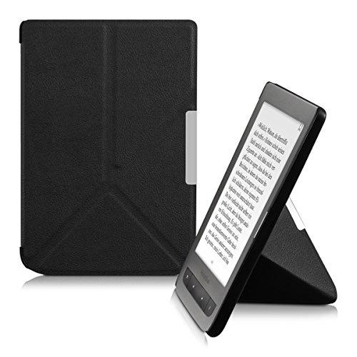 kwmobile Hülle kompatibel mit Pocketbook Touch Lux 3/Basic Lux/Basic Touch 2 - Kunstleder eReader Schutzhülle Cover Case - Schwarz