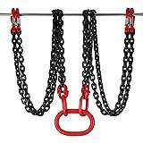 Mophorn 4 Jambe Levage Chaîne avec Crochet Chaîne pour Palan Lifting Chain de Grande Capacité (3M)