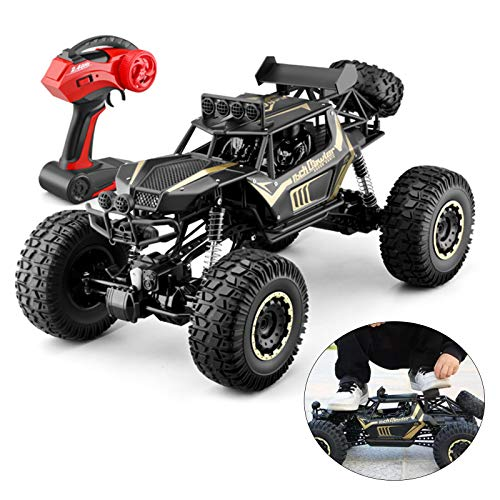 Large Scale RC Car 1:8 Off Road Monster Truck Rock Crawler, 4WD All Terrains 2.4Ghz Radio Remote Control Car Vehicle RC Buggy for Kids Adults