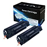 2INKJET Compatible Toner Cartridge Replacement for Canon 128 CRG128 (3500B001AA) (Black, 2-Pack)