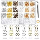 Earring Hooks, Anezus 1900Pcs Earring Making Supplies Kit with Jewelry Hooks, Fish Hook Earrings, Earring...