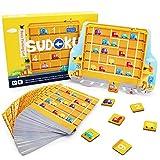 ANIKI TOYS Ocupado Estacionamiento Sudoku Juegos de Mesa magnéticos Número Puzzle Juguete de Viaje - 4 5 6 7 años Juguete Educativo para niños (Nivel avanzado)