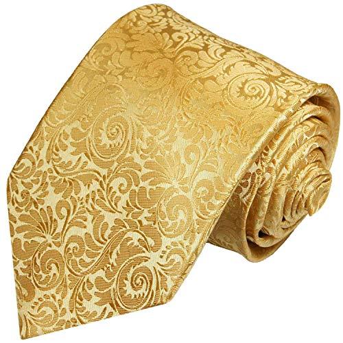 Paul Malone Goldene Krawatte 100% Seidenkrawatte fleckabweisend
