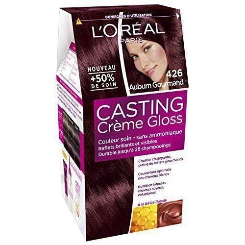 L'Oréal Paris Casting Crème Gloss Coloration Ton Sur Ton Sans Ammoniaque 4.26 Auburn Gourmand