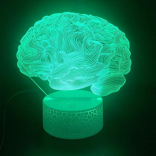 The Organ The Brain 3D Table Lamp Special Prize Teenager USB Atmosphere Led Night Light Table Lamp Halloween Decoration