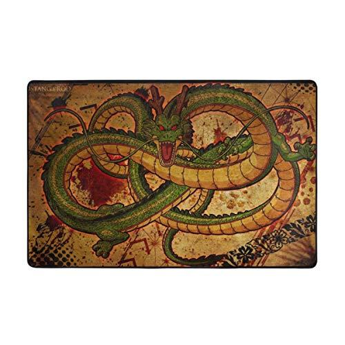 Jacklee Designer Teppich Wohnzimmer Teppich Bordüre in Chinese Dragon Drawing, Grösse:100x150 cm