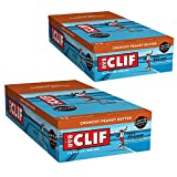 CLIF BAR - Energy Bars - Crunchy Peanut Butter Protein Bars - (2.4 oz Bars, 12 Count, 2-Pack) - Packaging May Vary