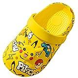 QIAOPING Pikachu Sandalias para niños Verano Niños Suela Blanda Impreso en 3D Lindas Zapatillas Ligeras Antideslizantes,Yellow-22EU