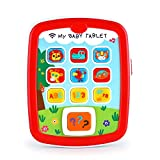 VATOS Educational Baby Tablet Music Toy Pad Baby Learning Toys for Infant 6 Months with Music & Light Travel Toys Easy ABC Toy Numbers & Color Toys