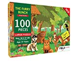 Pola Puzzles The Furry Bunch Tiling Puzzles 100 Pieces Jigsaw Puzzles for Kids
