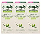Simple Skin Hydrating Moisturizer, Facial Moisturizer for Sensitive Skin with 12 Hour Moisturization, 4.2 Ounce (Pack of 3)