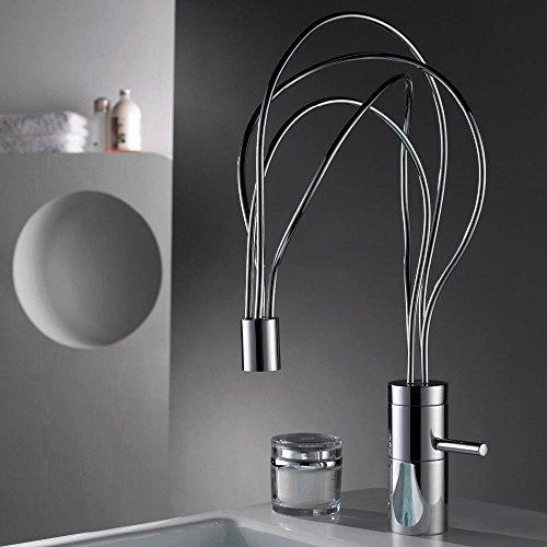 ZGB Robinet créatif contemporain cuivre cuivre chaud et froid étage haut et bas cuvette lavabo bassin solitaire brosse unique salle de bain nouvelle