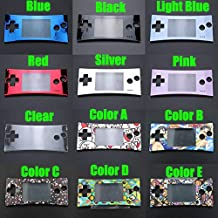 Faceplate Cover Front Shell Housing Case Replacement for Nintendo Game Boy Micro GBM (Clear)