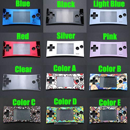 Faceplate Cover Front Shell Housing Case Replacement for Nintendo Game Boy Micro GBM (Blue)