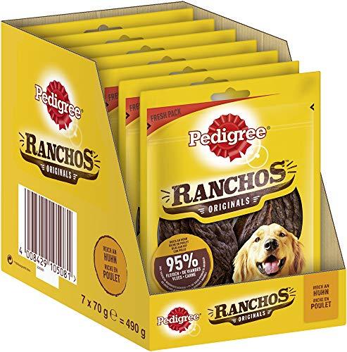 Pedigree Ranchos Originals – Weicher Hundesnack mit Huhn – Schonend getrocknet – Ideal für kleine und große Hunde – 7 x 70g
