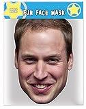 Prince William - Membre de la Famille Royale Britannique - Masque de Visage Fait en Carte Rigide