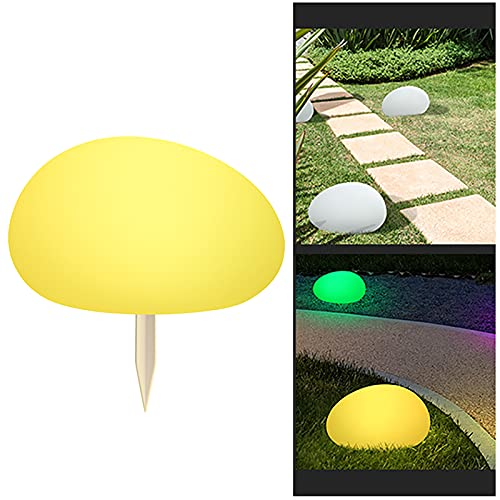 Kansang Lámpara solar de exterior para césped, luz LED exterior, paisaje, lámpara de piedra, lámpara de jardín