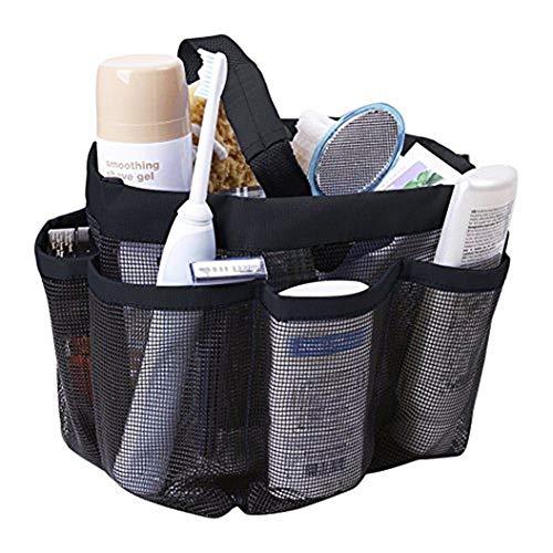 Qchomee Duschbeutel Dusch-Organizer Kulturtasche mit Henkeln und 8 Taschen Moistureproof Organizer Waschtasche Schnell trocknend Hängeorganizer Oxford-Gewebe Hängetasche für Badezimmer Reise Camping