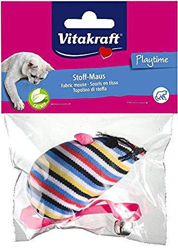 Vitakraft Hundespielzeug Maus mit Gl?ckchen + Katzenminze ,farblich sortiert