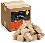 Camerons Products Precision Smoking Wood Chunks (Hickory) ~10 Pounds, 840 cu. in. - Uniform Size: 3' x 2' x 2' for Even Burning - Kiln Dried BBQ Large Cut Chips- All Natural Barbecue Smoker Chunks