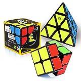 ROXENDA Speed Cube Set, Cubos de Velocidad de 2x2 3x3 Pirámide,...