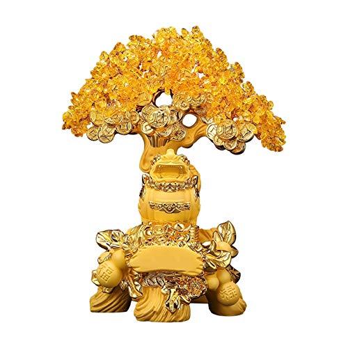 IINSSDJ Home Ornamente Geld Baum Möbel Lucky Tree Dekorieren Büroschreibtisch TV Weinkabinett Handwerk Büro, Familie, Café, Bar, Restaurant Tischdekor Geschenk (Size : 33x21x42cm)