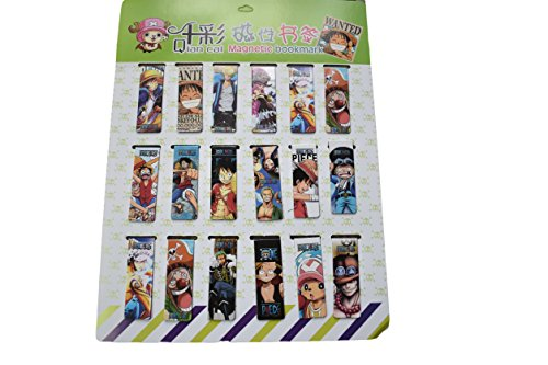 Fat-catz-copy-catz 2 x Neuheit Japanisches Anime One Piece Zoro Luffy Design Magnetisches Lesezeichen Seitenmarkierungen